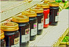 Aug 10<br /> out of line<br /> <br /> A roadside vendor on a country road on the blue ridge parkway had many jars of jam, preserves and honey. We purchased a jar of sourwood honey. Very tasty!
