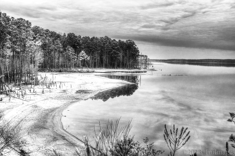 Apr 5<br /> Jordan lake<br /> <br /> Low water levels reveal a jagged shoreline.<br /> <br /> Thanks for viewing and commenting! <br /> Happy Friday everyone!!