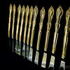 Sept 22<br /> K=Knives<br /> For the sunday alphabet challenge, knives from my formal dinnerware.