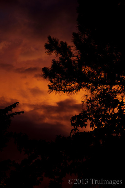Jun 4<br /> Fire in the sky<br /> <br /> An amazing sunset occurred after an evening of storms. <br /> <br /> Thanks for viewing and commenting... always appreciated!