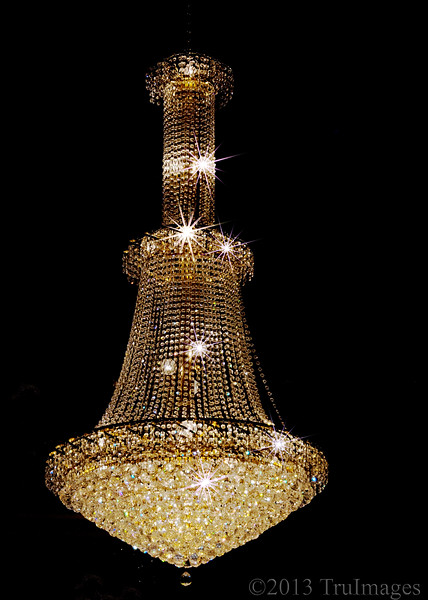 "Dec 12<br /> Crystal bling<br /> <br /> Attended a birthday  ""gala"" last weekend and this one of the many chandeliers in the ballroom."