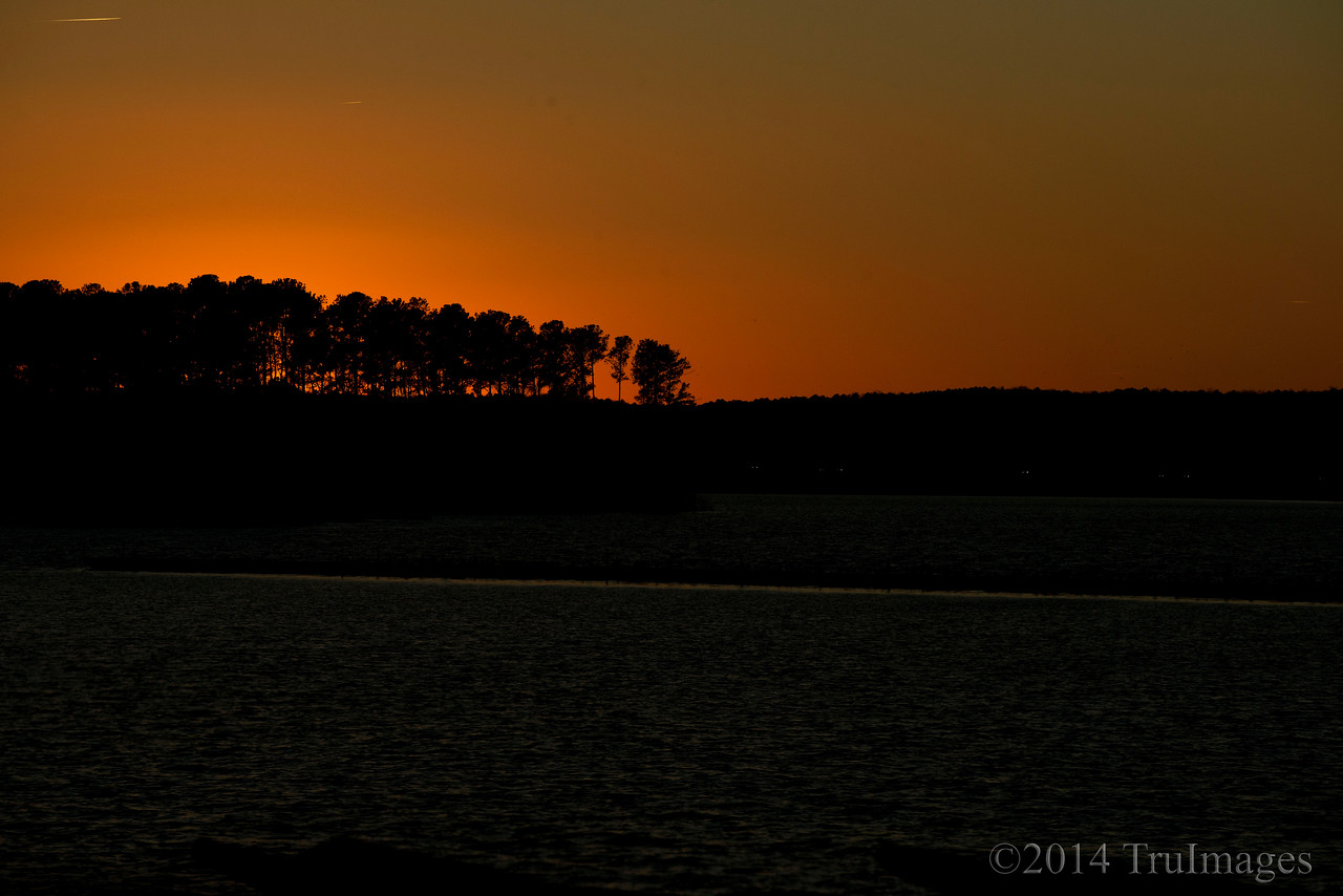 Jan 24<br /> Fireball<br /> <br /> Tree silhouettes stand tall on a hill against the backdrop of our setting sun.