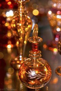 E is for Egyptian perfume bottle