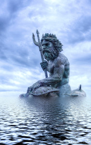 Oct 13 N=Neptune, the Roman god of freshwater and the sea  When I saw this statue at Virginia beach, I immediately knew how I wanted to post process it! Didn't occur to me at the time it would be my N day shot!