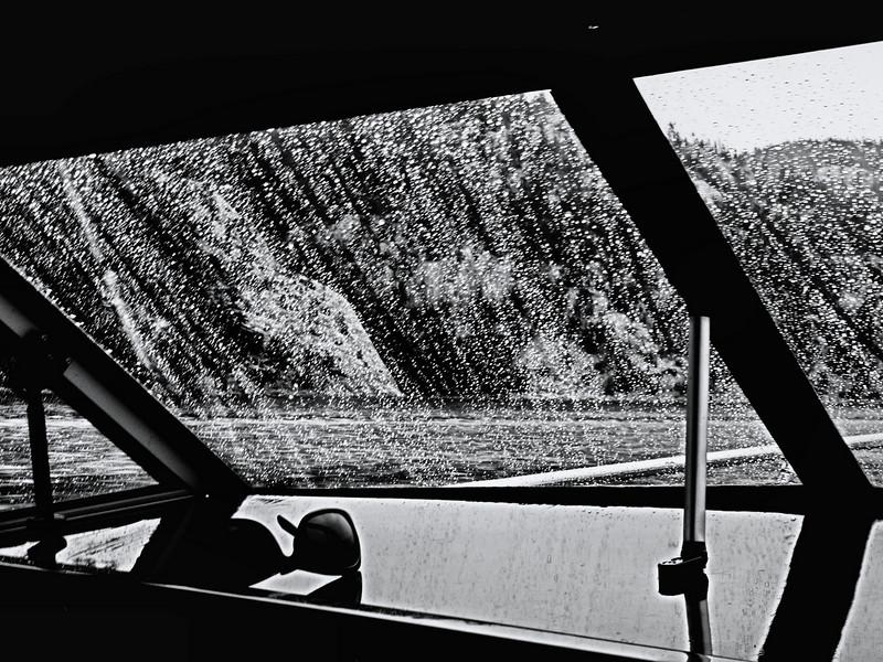 Rainy day at Baie Fine