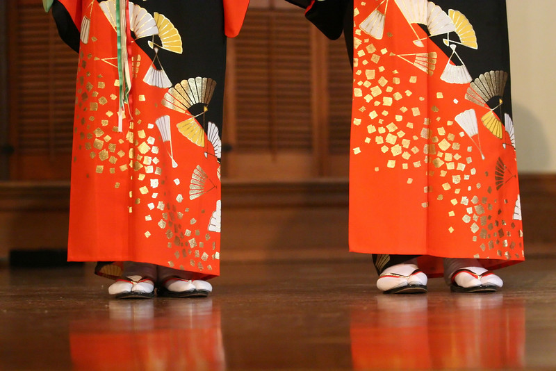 Members of the Indianapolis Minyo Dancers performed Tuesday evening in Meherry Hall.  The dancers put on a show featuring traditional Japanese costume and dance.   PHOTO BY ALEX TURCO