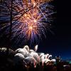 Fireworks, downtown Portland