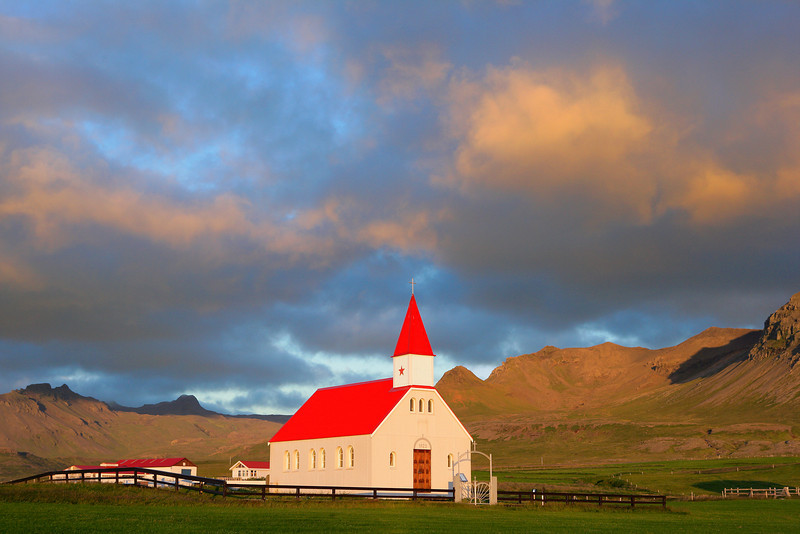 Sundown Church, Brimilsvellir, Snaefellsnes Peninsula
