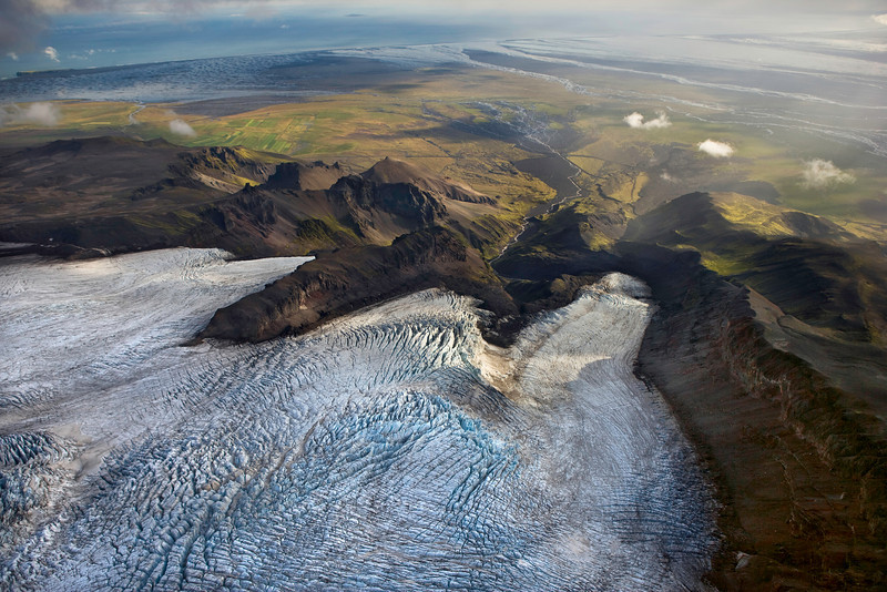 Vatnajokull Glacier on the Southern Coast