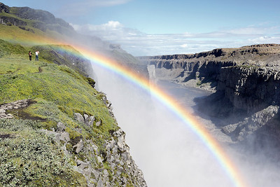 Rainbow Over Dettifoss Falls