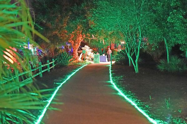 The Florida Botanical Gardens Holiday Lights Display 2014
