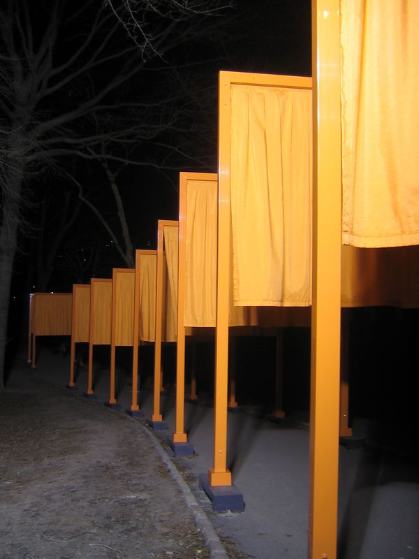 Gates at night