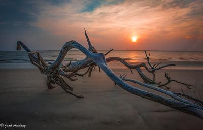 St. Andrews Beach, Jekyll Island at sunset