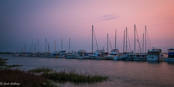 Jekyll Island Marina at sunset