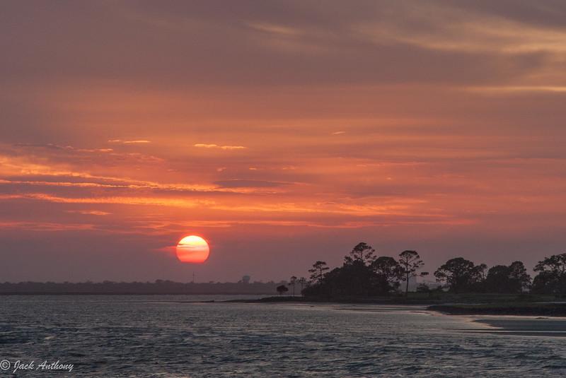 Sunset from the pier in St. Simon, Ga.