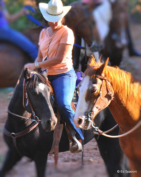 Horse and rider with a friend.<br /> Sedona, AZ