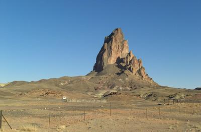 """Nov 6, 2007, @  3:30pm,  """"El Capitan"""" (Agathla Pk) along US 163,  north of Kayenta, AZ"""