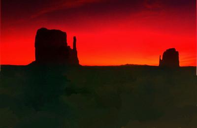 monument valley, dawn, mar 3, 1994a