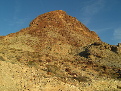 nov 7, 2007. @  5pm.  Old Route 66.   Leaving Oatman and heading west down to Golden Shores.