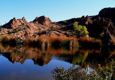 Aeryers lake, Boyce-Thompson Arboretum, Superior, AZ, nov 21, 2006