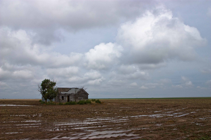 Abandonded farmhouse in the Oklahoma Panhandle.<br /> Photo © Carl Clark