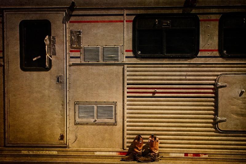 Trailer still life. Pioneer Days Rodeo, Guymon.<br /> Photo © Cindy Clark