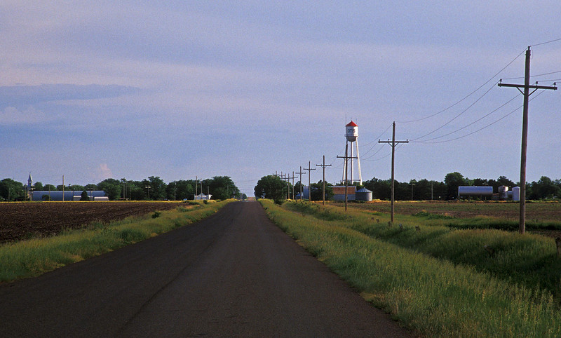 My favorite view as a child - going to grandma's house in Otis, Kansas.<br /> Photo © Cindy Clark