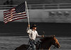 Old Glory never looked better!   Colors fly high to open Pioneer Days Rodeo in Guymon, Oklahoma - May 2012<br /> Photo © Cindy Clark