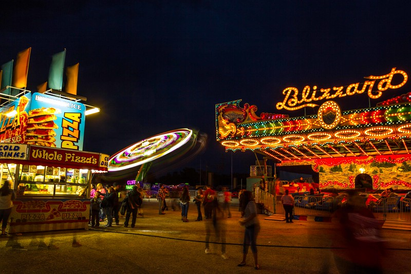 Carnival excitement at Pioneer Days in Guymon, Oklahoma.<br /> Photo © Carl Clark