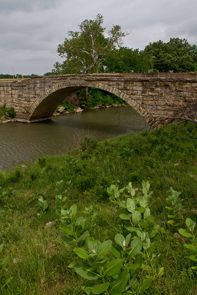One of 3 stone bridges from the early 20th century that cross Grouse Creek in Cowley County, Kansas.<br /> Photo © Carl Clark
