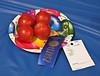 Good enough to eat!  Prize winning tomatoes at Texas County Fair, Guymon, Oklahoma.<br /> Photo © Cindy Clark