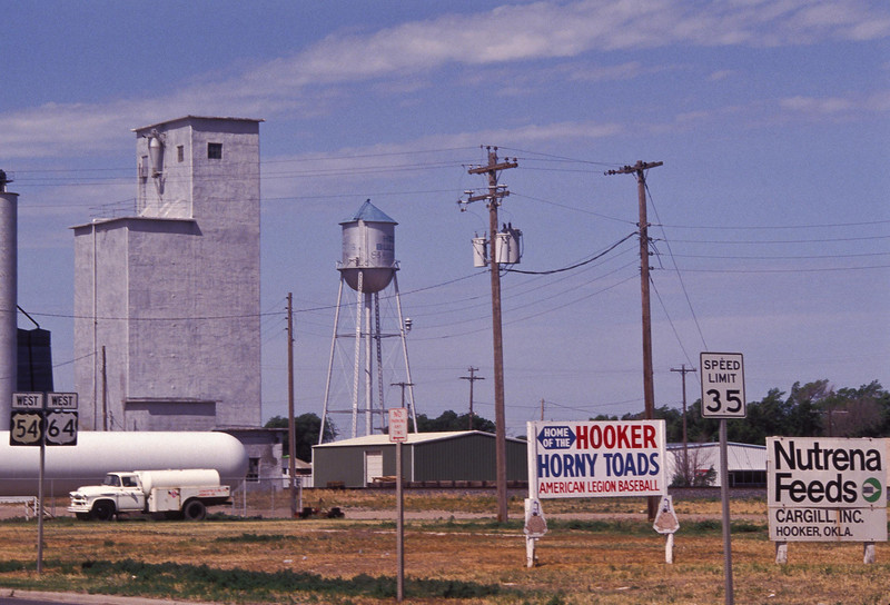 Yes, really.  The town's name is Hooker, Oklahoma.<br /> Photo © Cindy Clark