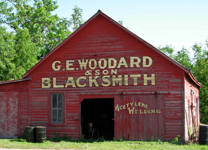 Historic blacksmith shop in Stuttgart, Kansas.<br /> Photo © Carl Clark
