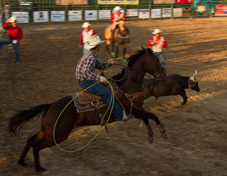 Jumpstart!  2012 Pioneer Days Rodeo, Guymon, Oklahoma.<br /> Photo © Cindy Clark