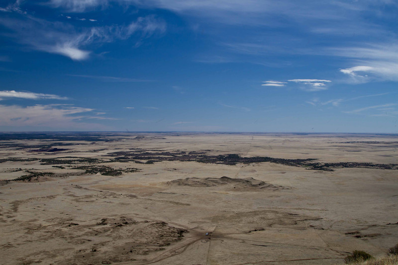 Looking upon The Heartland from Capulin Volcano in New Mexico, just over the western Oklahoma border.<br /> Photo © Carl Clark