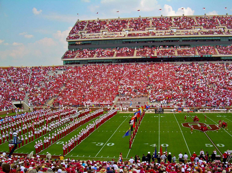 The color, the pagentry, the excitement of college football!  Norman, Oklahoma.<br /> Photo © Carl Clark