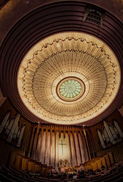The Boston Avenue Methodist Church in Tulsa, Oklahoma is an art deco masterpiece.<br /> Photo © Cindy Clark