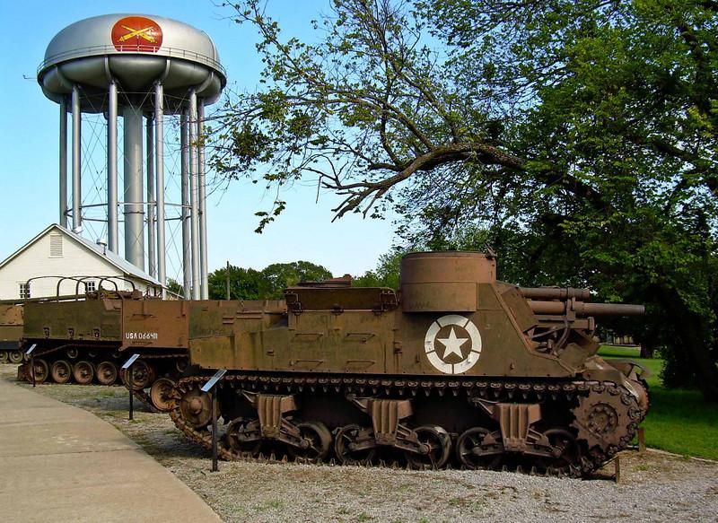 Historic vehicles at Fort Sill, Oklahoma.<br /> Photo © Carl Clark
