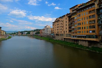 ARNO RIVER-FLORENCE shot from the Ponte Vecchio