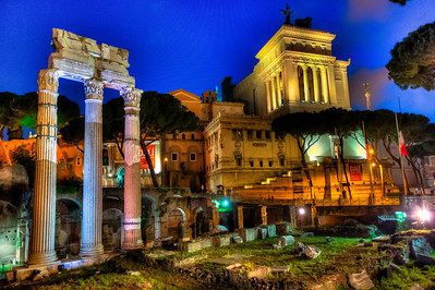 NIGHT AT THE FORUM - ROME