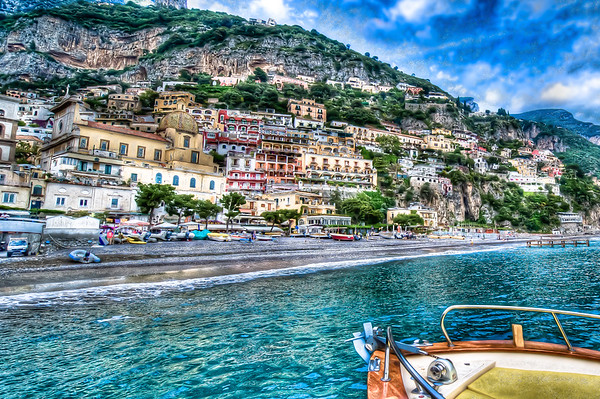 POSITANO OFF THE STARBOARD BOW