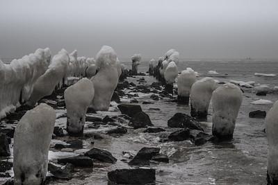 Fog and Ice on the Raritan Bay