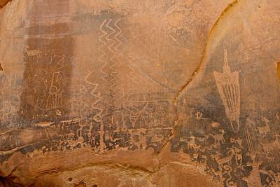 Moonflower Canyon Petroglyphs, Moab, Utah