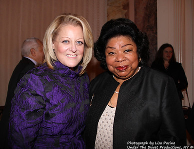 The METROPOLITAN OPERA GUILD'S 78th Annual Luncheon at the Waldorf-Astoria, NY, December 4, 2012. Stellar Guests include legends Martina Arroyo, George Shirley, Deborah Voight, Harolyn Blackwell, Vinson Cole, Roberta Alexander, Mary Costa, Regina Resnik, Angela Mead winner of 2012 Beverly Sills Artist Award & 2011 Richard Tucker Award), Lawrence Brownlee, Roberta Peters, Susanna Phillips, Lisette Oropesa, Hei-Kyung Hong, Carol Vaness, Barry Tucker (son of Richard Tucker; President of Richard Tucker Music Foundation), and many more. Photograph by Lisa Pacino of Under The Duvet Productions, NY © All Rights Reserved.