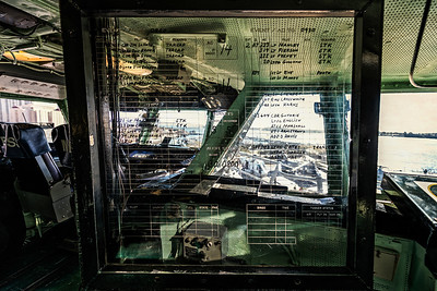 On the bridge of the Midway, the crew list is still displayed