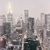 New York City - Snow Covered Skyline