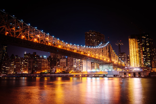New York Night - Queensboro Bridge and the New York City Skyline