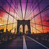 Brooklyn Bridge - Sunset - New York City
