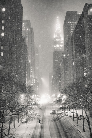 New York Winter - Snow and the Chrysler Building