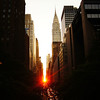 Manhattanhenge  and the Chrysler Building - New York City